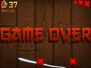 Fruit Ninja Android Game over after missing three fruits