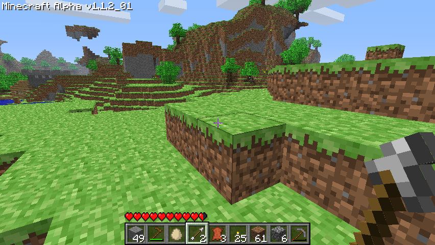 Minecraft Windows The terrain isn't always realistic.