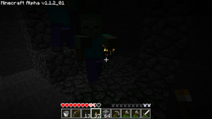 Minecraft Windows Zombies are spawned in this room.