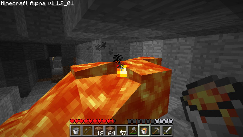 Minecraft Windows You can collect lava with a bucket.
