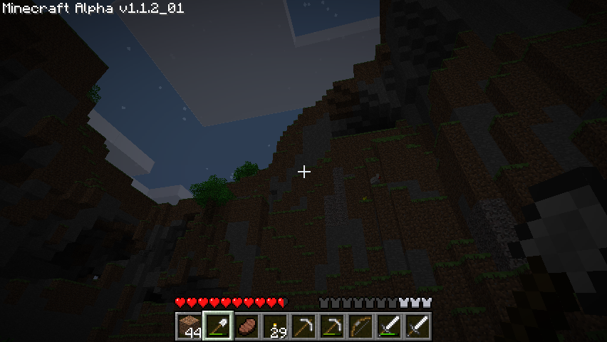 Minecraft Windows Massive cave structures.