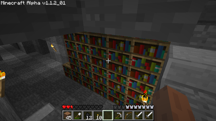 Minecraft Windows Bookcase.