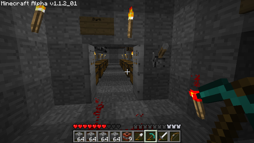 Minecraft Windows My bank vault with working double doors.