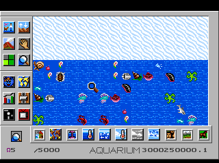 SimEarth: The Living Planet TurboGrafx CD This scenario is basically a huge aquarium...