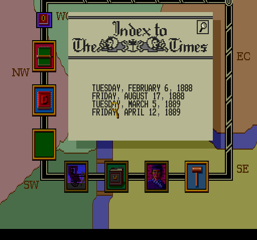 Sherlock Holmes: Consulting Detective TurboGrafx CD ...and read newspapers!