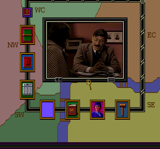 Sherlock Holmes: Consulting Detective TurboGrafx CD Inspector Lestrade looks like a retired Eastern European violin teacher