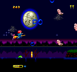 Fantastic Night Dreams: Cotton TurboGrafx CD Starting the game. Little pink birdies/piglets (?), psychotic moons... Life is good