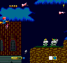 Fantastic Night Dreams: Cotton TurboGrafx CD These warriors throw axes at you. Just silence them with bombs