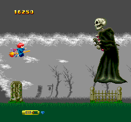 Fantastic Night Dreams: Cotton TurboGrafx CD ...and finally, a very tough skeleton boss. Oh my!..