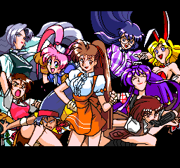 Advanced V.G. TurboGrafx CD All the girls together