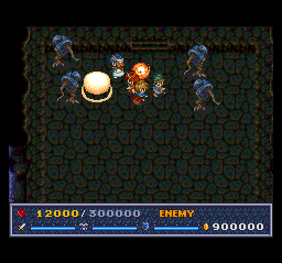 The Legend of Xanadu II TurboGrafx CD Intense battle in a dark room