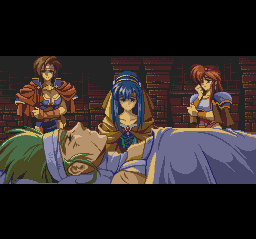 The Legend of Xanadu II TurboGrafx CD Cut scenes appear between the chapters