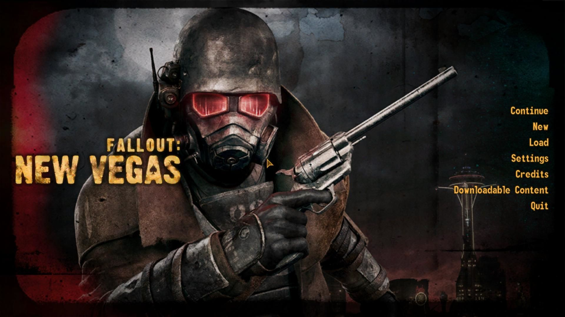 Fallout: New Vegas Windows This is the menu.  Largely unchanged, but with a cool picture