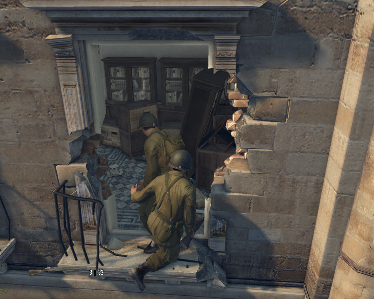 Mafia II Windows The first mission in the game takes place in Italy during World War II. Vito the soldier climbs into a house