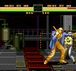 Art of Fighting TurboGrafx CD Battle of freaks: Mr. Big against Lee