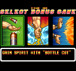 Art of Fighting TurboGrafx CD Bonus stage allows you to upgrade your characters through mini-games