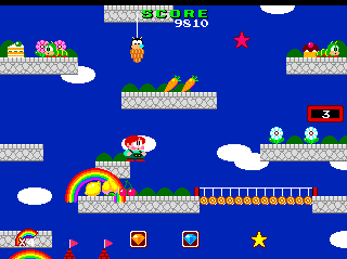 Rainbow Islands TurboGrafx CD Getting started... it's all pretty simple in the beginning