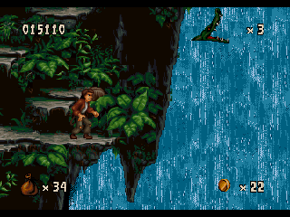 Pitfall: The Mayan Adventure SEGA 32X At the waterfall