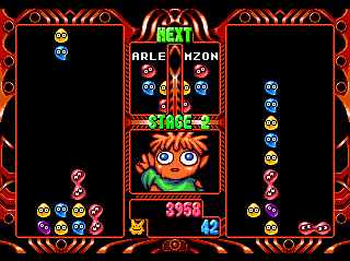 Puyo Puyo 2 TurboGrafx CD The zombie kid has some weird technique...
