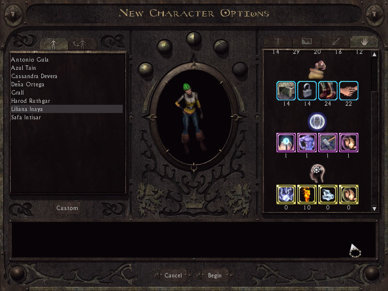 Lionheart: Legacy of the Crusader Windows Setting up the character