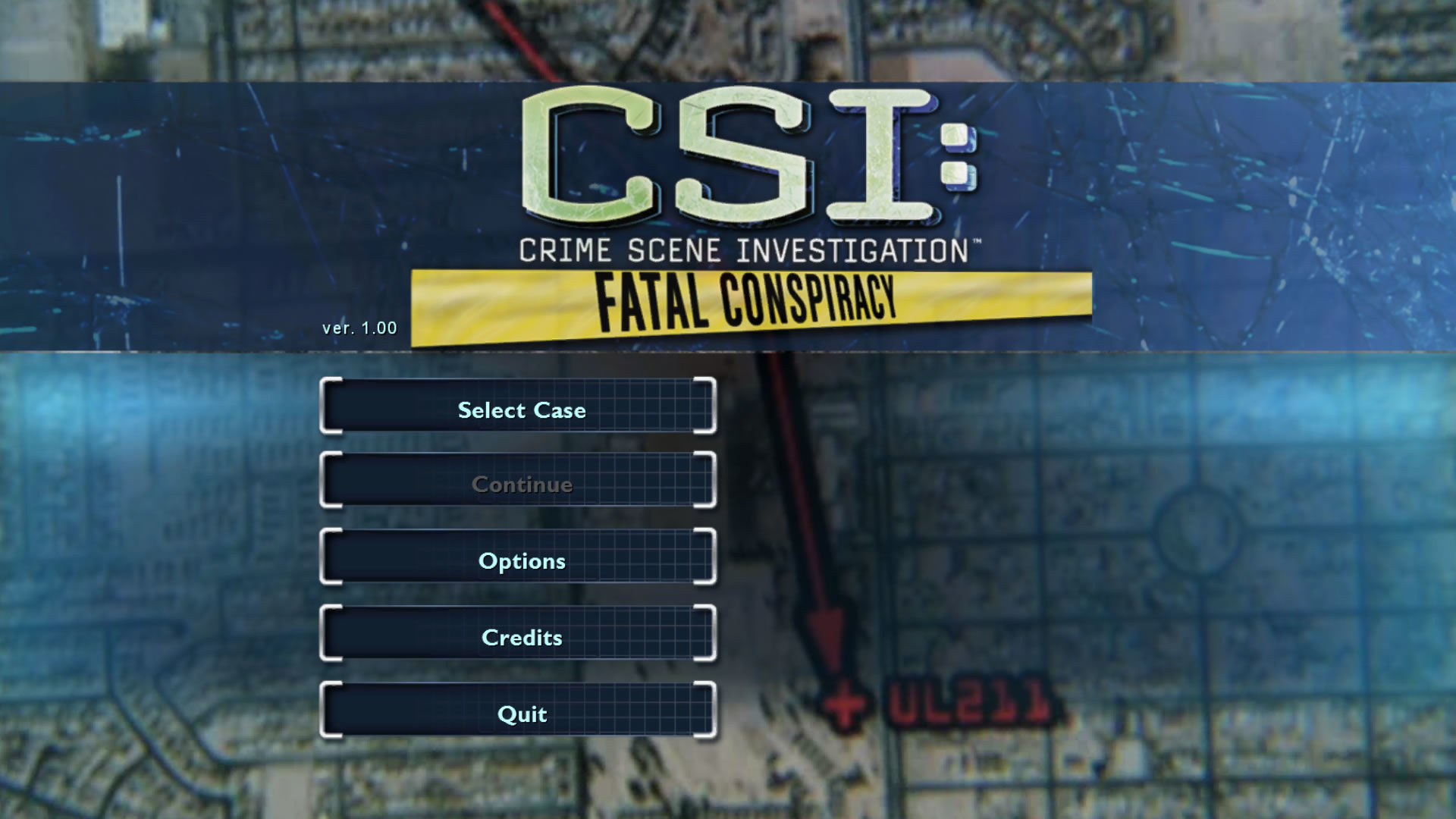 CSI: Crime Scene Investigation - Fatal Conspiracy  Windows Main menu