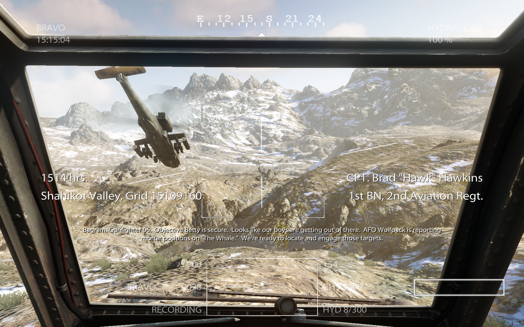 Medal of Honor Windows There is a helicopter mission too. You control the shooting but not the flying