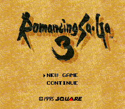 Romancing SaGa 3 SNES Title screen