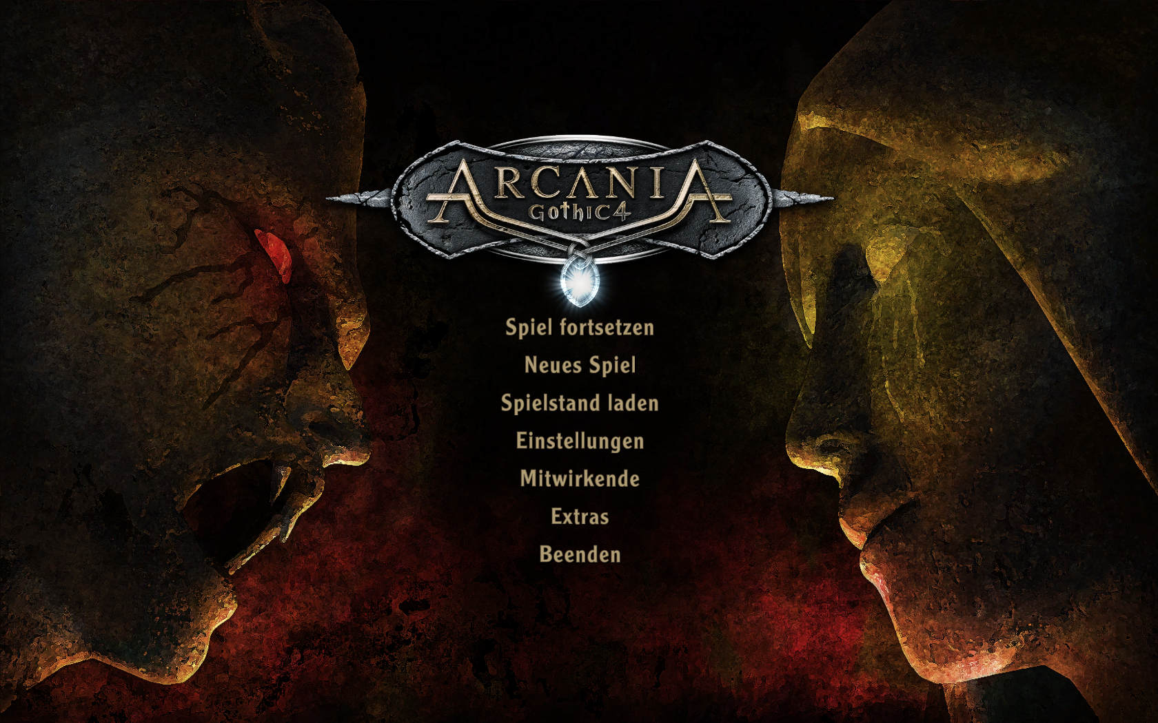 ArcaniA: Gothic 4 Windows Menu Screen