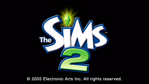 The Sims 2 PSP Title screen
