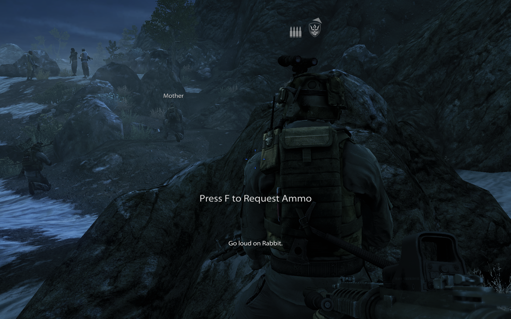 Medal of Honor Windows If you are low on ammunition, you can ask your teammates for more