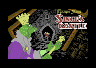 Dragon's Lair Part II: Escape from Singe's Castle Commodore 64 Title screen