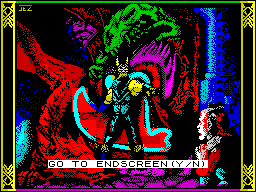 Dragons of Flame ZX Spectrum The game loads to this screen. 