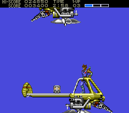 Strider TurboGrafx CD Jump from helicopter to helicopter