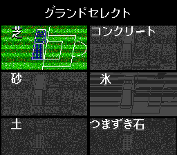 Nintendo World Cup TurboGrafx CD Choosing a type of field