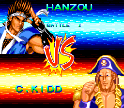 World Heroes 2 TurboGrafx CD Match-up