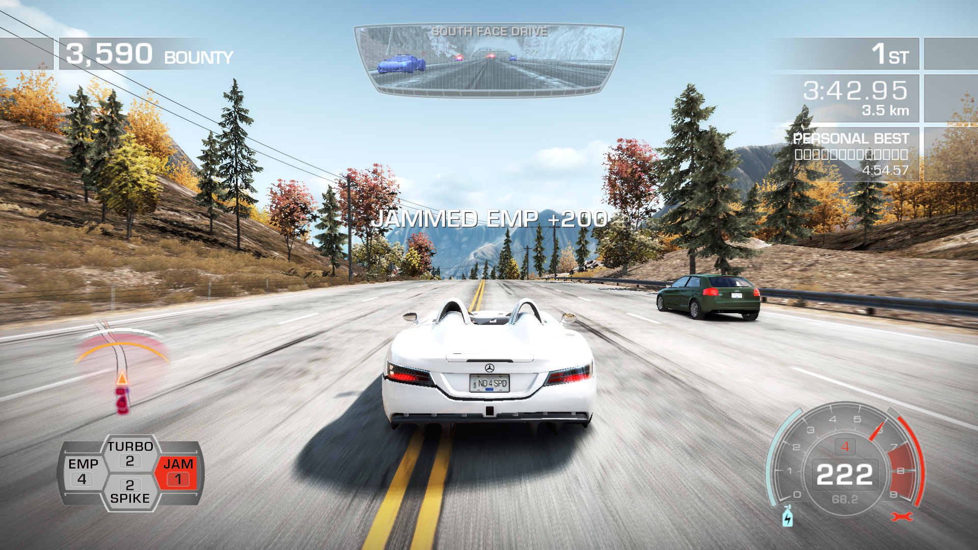 Need for Speed: Hot Pursuit Windows I've successfully blocked an EMP attack by frequency jammer.