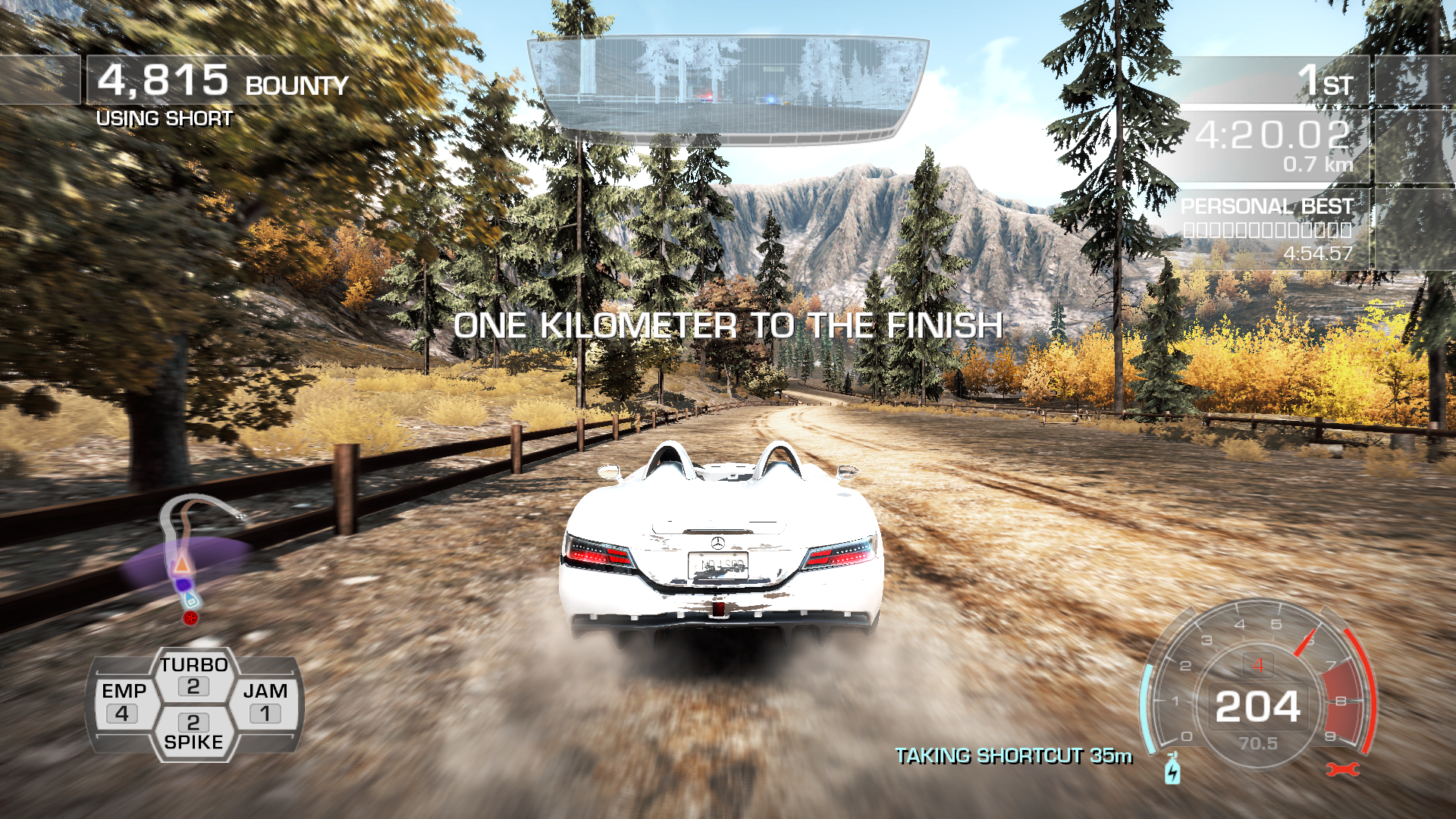 Need for Speed: Hot Pursuit Windows Almost at the finish line.