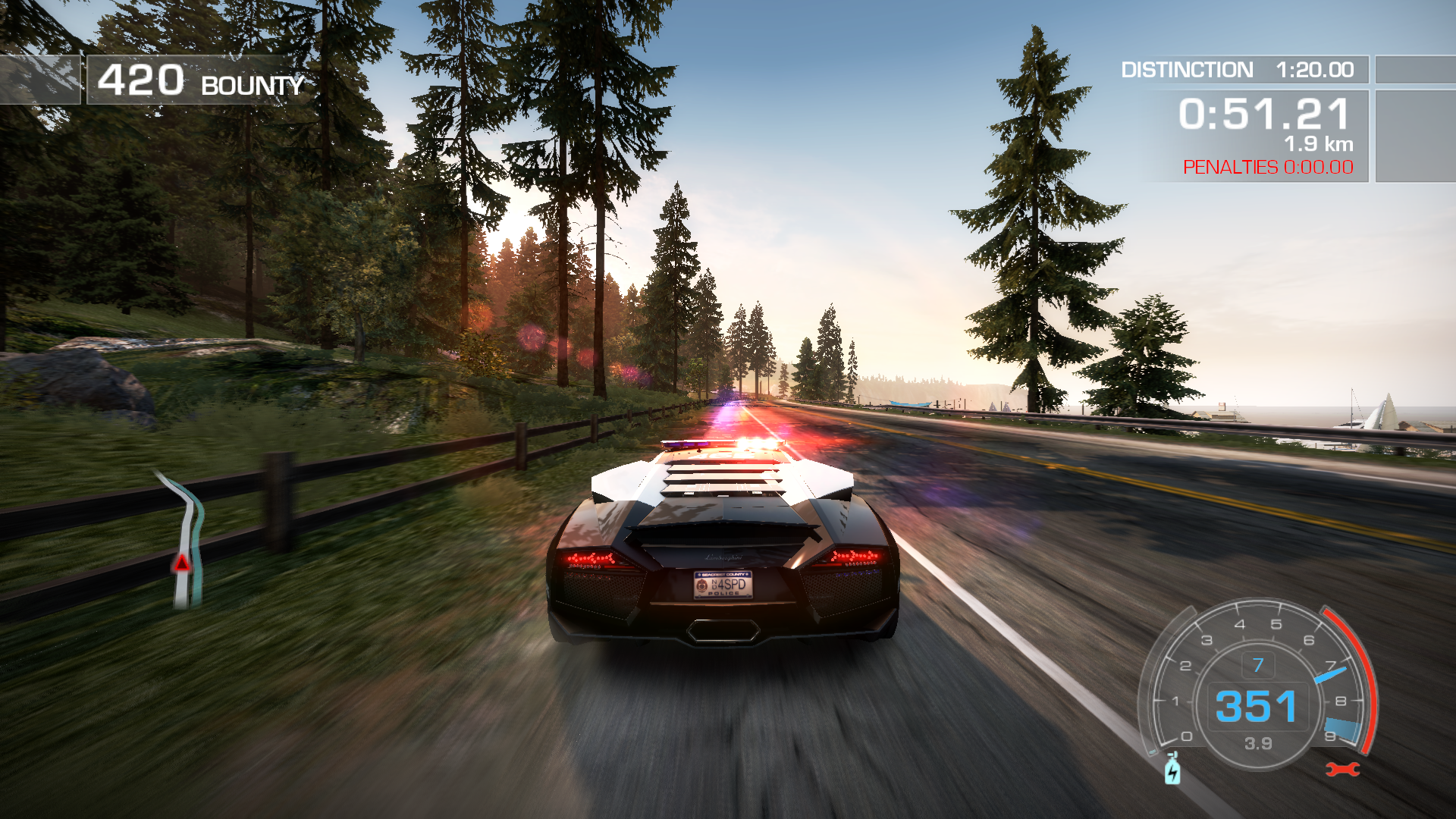 Need for Speed: Hot Pursuit Windows They show you the ultimate car and then make you work for it hours and hours.