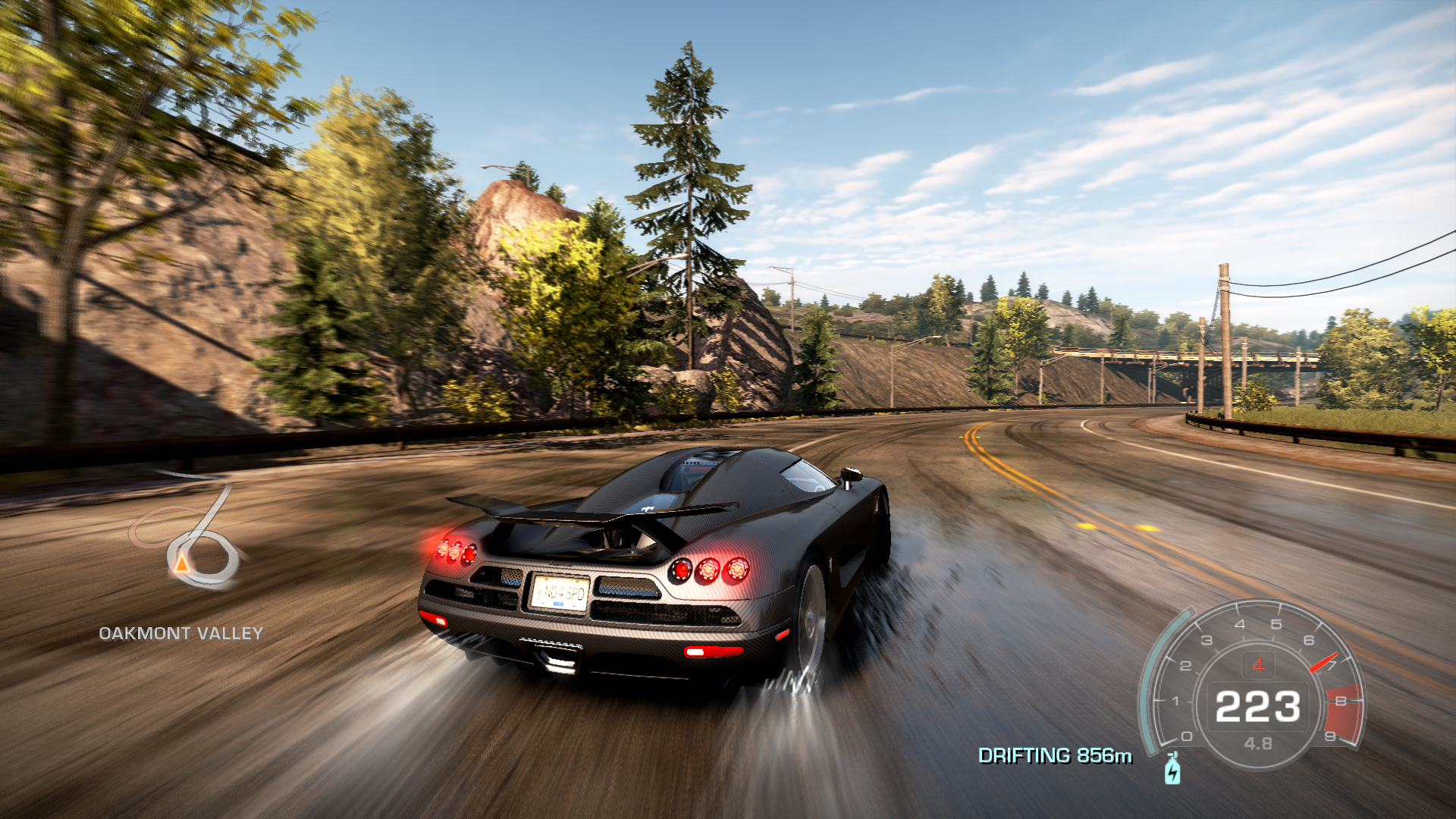Need for Speed: Hot Pursuit Windows Highway drifting.