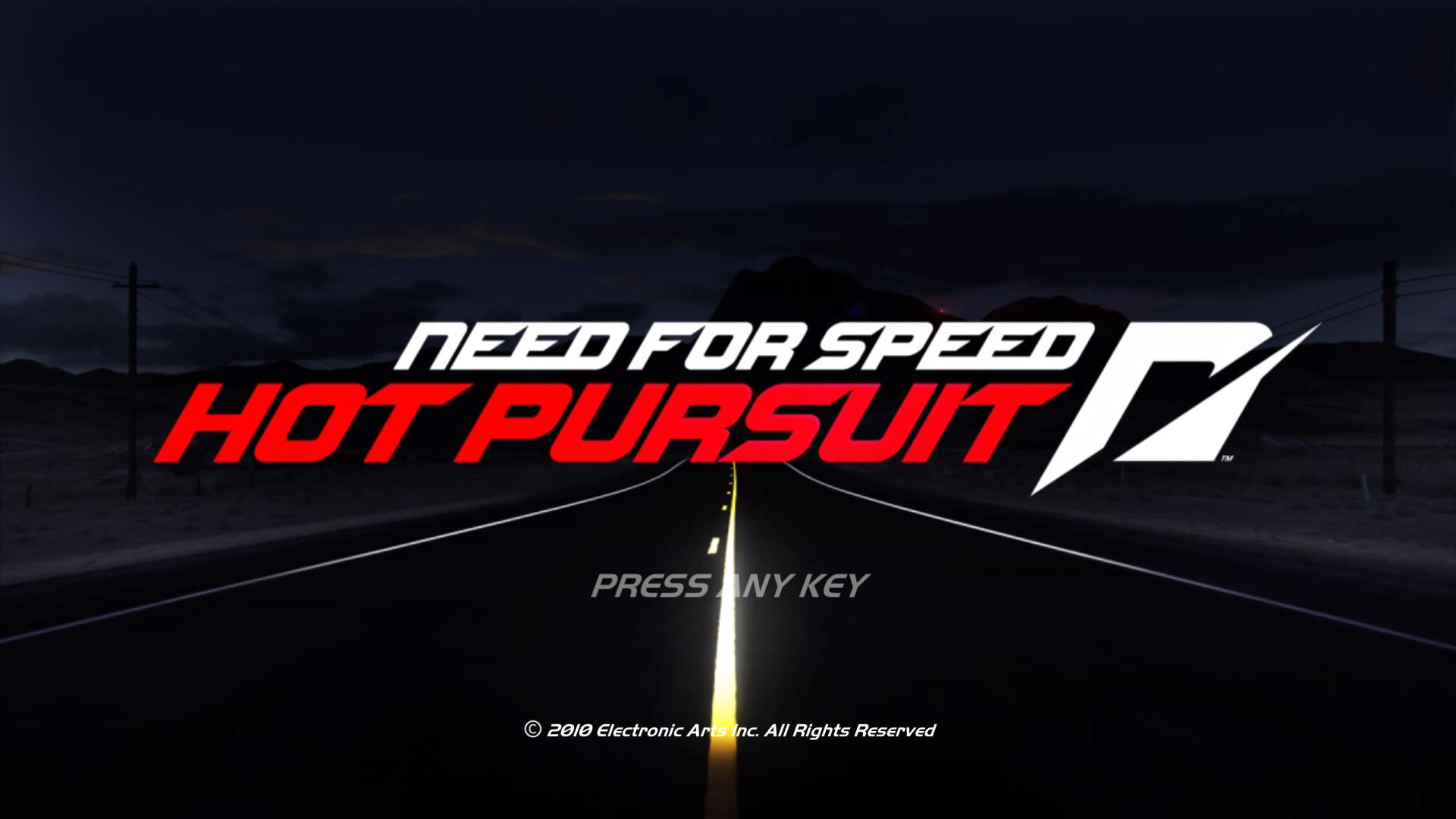 Need for Speed: Hot Pursuit Windows Title screen