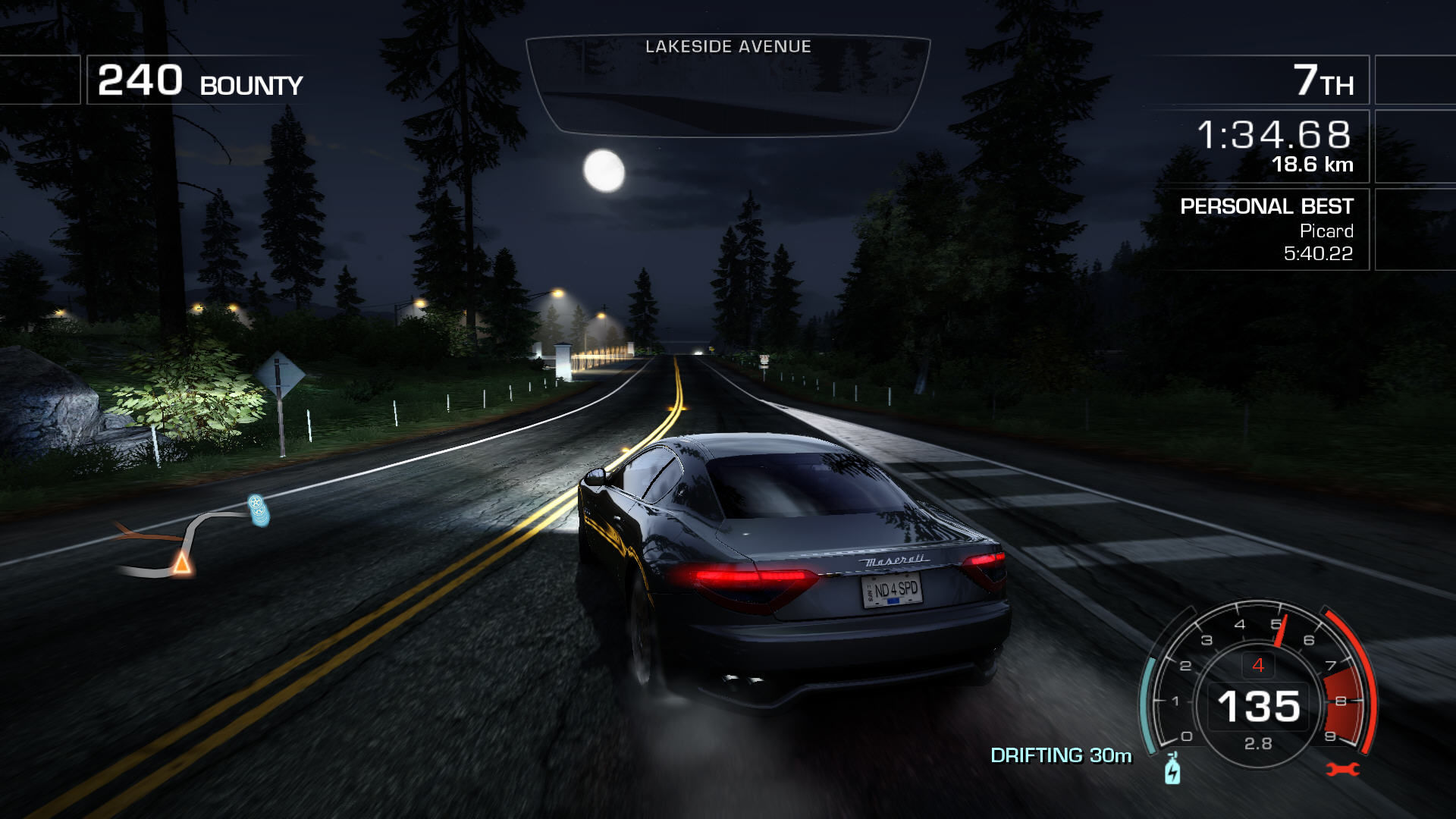 Need for Speed: Hot Pursuit Windows It's a full moon