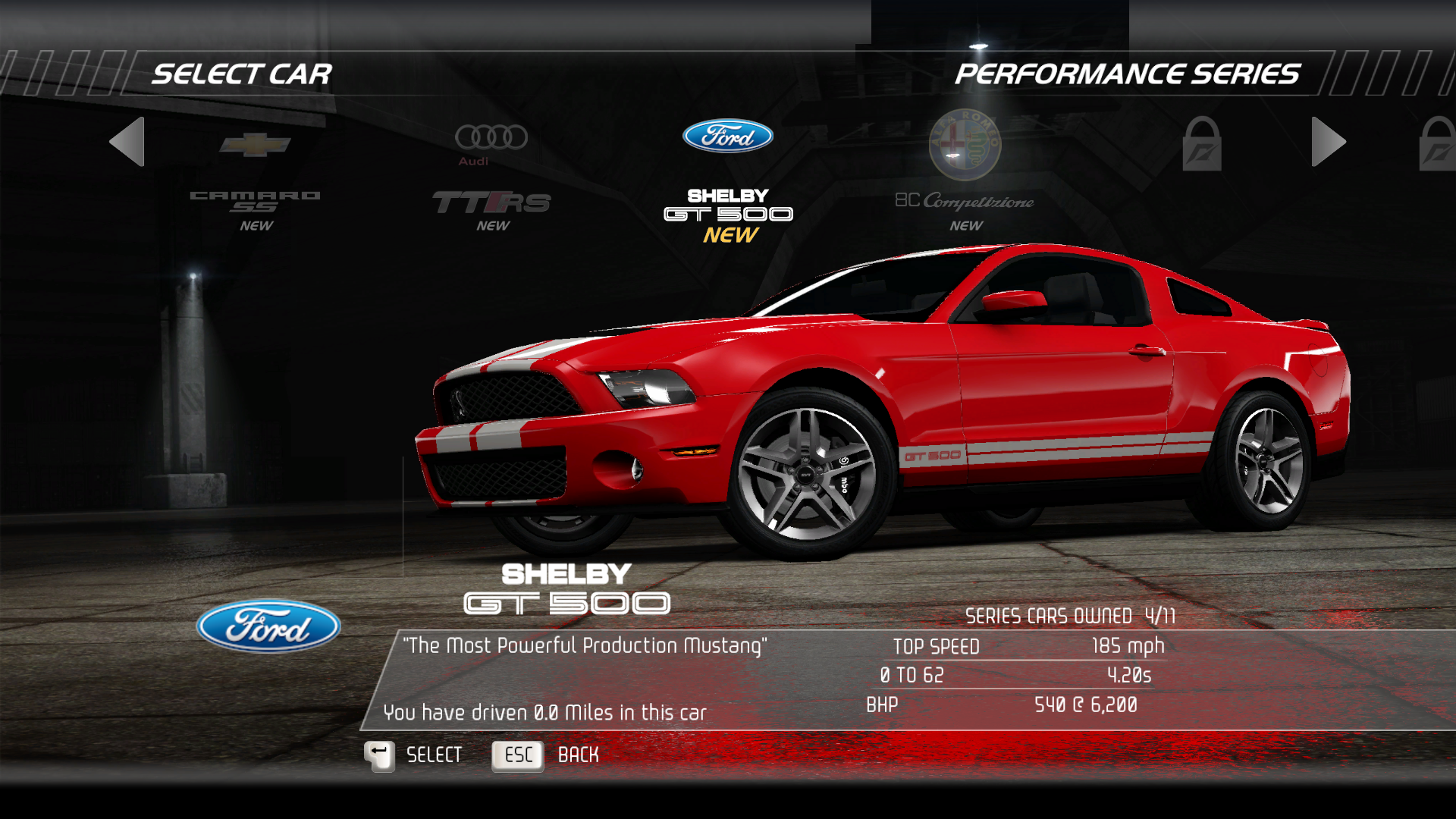 Windows rg edition - Need For Speed Hot Pursuit Limited Edition Windows Selecting Ford Shelby Gt500