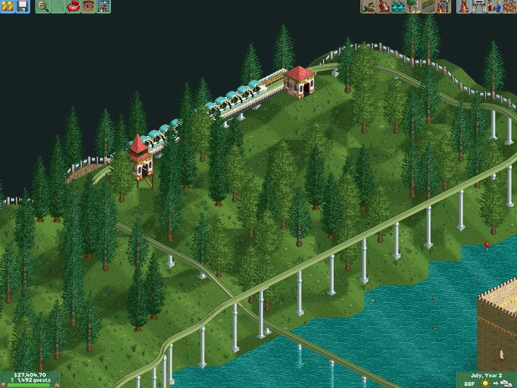 RollerCoaster Tycoon 2 Windows The last station, which will encircle a small coaster.