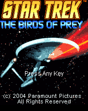 Star Trek: The Birds of Prey J2ME Title screen