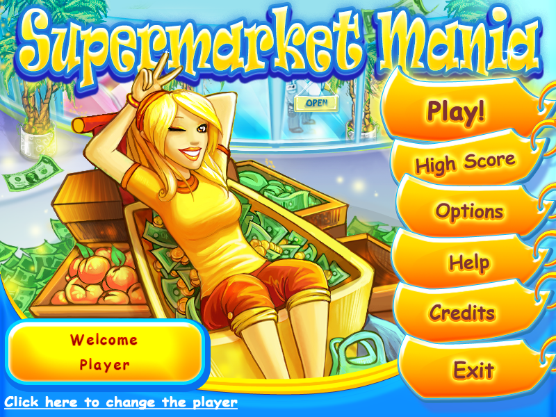 Supermarket Mania Windows Main menu