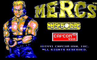 Mercs Amstrad CPC Loading screen