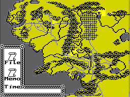 J.R.R. Tolkien's War in Middle Earth ZX Spectrum A map of Middle Earth