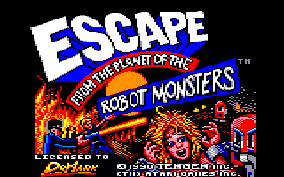 Escape from the Planet of the Robot Monsters Amstrad CPC Title screen
