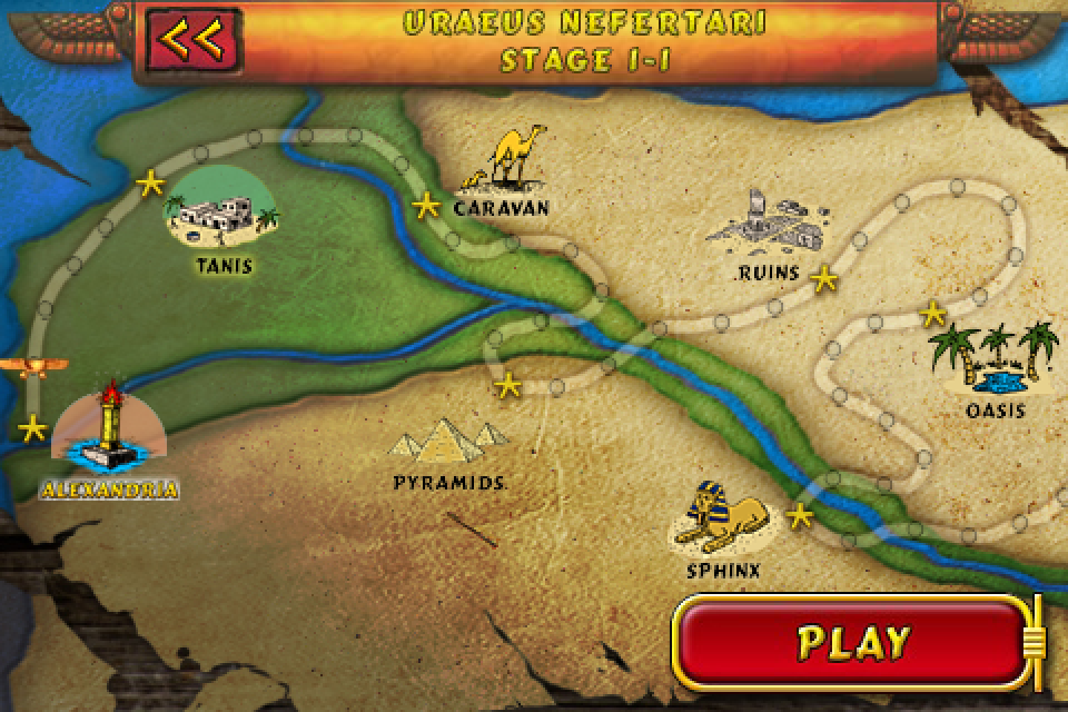 Luxor screenshots for iphone mobygames luxor iphone the world map shows you how far you have to go gumiabroncs Gallery