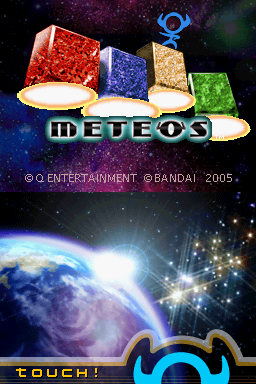 Meteos Nintendo DS Title screen.